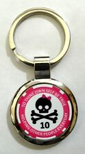 Alcoholics Anonymous Skull and Bow 10 Year Sobriety Key Chain