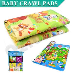 2mx1.8m Baby Kids Floor Play Mat Rug Picnic Room Cushion Crawling Mat Pad
