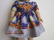 CHRISTMAS DRESS: Santa, Santa's Sleigh, Rudolph & Reindeer fits American Girl