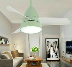Colorful Ceiling Fan Lights With LED Modern Home Lighting Fixtures Cooling Lamps