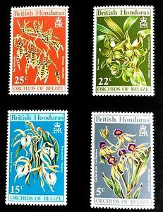 British Honduras #255-8 Flowers - H
