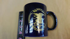 National Rifle Association Of America Coffee Tea Cup Mug Navy with Gold Imprint