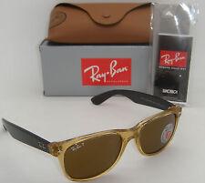 Ray-Ban RB 2132 945/57 55MM New Wayfarer Honey W/ Crystal Brown Polarized