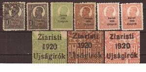 Hungary Romania Kolozsvar Cluj Ziaristi Ujsagirok 1920 private overprint lot 6x