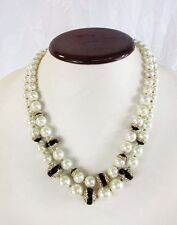ANNE KLEIN Two Row Pearl Necklace MSRP$65.00