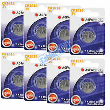 8 x AGFA CR1616 3V Lithium Button Battery Coin Cell DL1616 for Car Key Fobs