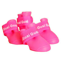 Roseo M, Zapatos de mascota Botines de goma Botas de lluvia impermeable de T8R3