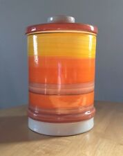 Laurentian Pottery Canister Yellow And Orange