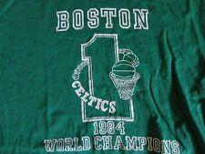 Vintage 50-50 Velva Sheen Boston Celtics1984 World Champs Nba t shirt Adult S