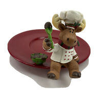 Yankee Candle CHOCOLATE MOOSE Jar Holder/Cookie Plate Retired Piece Decor