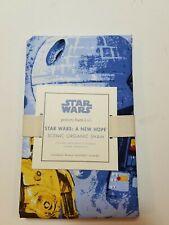 Pottery Barn Kids Star Wars A New Hope Organic Flannel Scenic Blue Sham #2090