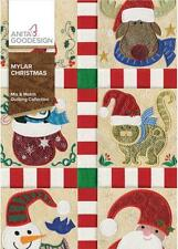 Mylar Christmas Anita Goodesign Embroidery Machine Design CD