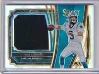 Will Grier 2019 Panini Select Silver RC Jersey Patch Carolina Panthers /99