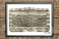 Old Map of Mohrsville, PA from 1898 - Vintage Pennsylvania Art, Historic Decor