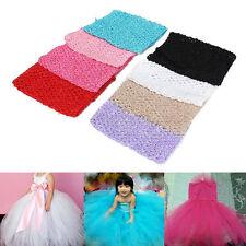 """Baby Girls Crochet Tube Elastic Waistband Headband Tutu Skirt Costume 6''/9""""/12"""""""