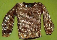 Topshop Gold/Copper Sequin Jumper size 6 rrp £60