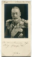 FINE SIGNED PHOTO QUEEN MARY ON BEHALF KING GEORGE V 1936 VANDYK JUBILEE