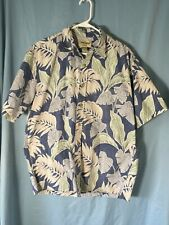 Cooke Street: HONOLULU Tropical Print 100% COTTON Shirt: MEN'S LARGE