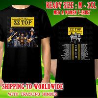 ZZ Top 50th Anniversary Tour Dates 2019 Black T-Shirt Size M-3XL Kompor Free