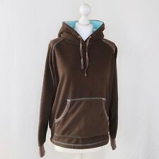 Musto Brown Long Sleeved Fleece Drawstring Hooded Jumper - Size 14