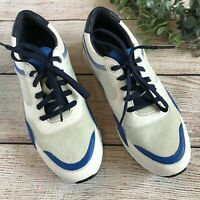Cole Haan Womens Grandpro Tennis Sneakers Blue Gray White W14253 Size 8B Shoes