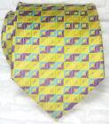 Cravatta gialla , Nuova , seta 100% Made in Italy Morgana marca handmade