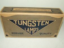 Antique Box of 4 Tungsten Light Bulbs NOS with Original Box
