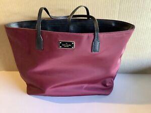 Kate Spade Authentic Carryall Bag Burgundy