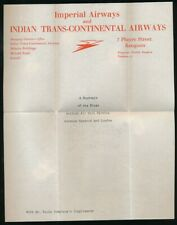BURMA 1933 INDIA TRANSCONTINENTAL AIRWAYS LETTERHEAD 1st FLIGHT to MAYO IMPERIAL