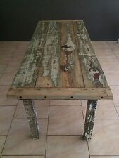 Dining Table Recycled Timber Hand Carved French Provincial Rustic