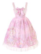 JSK-54-3 Pink Cat Bear Flowers Roses Garden Dress Lolita Cosplay Costume Kawaii