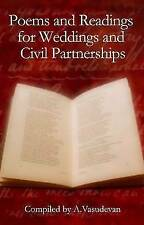 Poems and Readings for Weddings and Civil Partnerships Paperback Book The Cheap