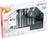42 Piece Stainless Steel Cutlery Set Knives Forks Spoons Teaspoons In Gift Box