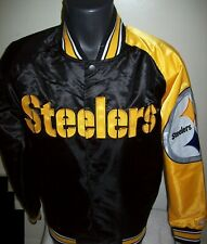 PITTSBURGH STEELERS NFL STARTER Snap Down Jacket Sping/Summer BLACK/YELLOW