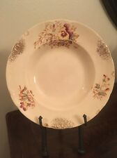 "Dresden Hand Painted Floral 9"" Bowl Circa 1800"