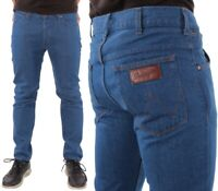 Wrangler Herren Jeans Hose Boyton Regular Tapered Denim Rinsewash Blau W29-W36
