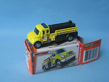Matchbox Freightliner Tanker Fire Engine Yellow in Picture Box Toy Model Car