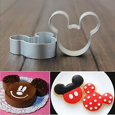 1PC Metal Mickey Mouse Shaped Chocolate Cookie Cake Cutter Baking Mould Mold D42