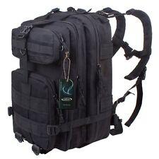 ONYX BLACK Heavy Duty Military Rucksack School Hiking TACTICAL BACKPACK Bag 40L