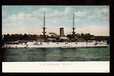 c.1907 us battle ship Illinois navy military postcard