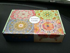 Scented Candle Box Set Lemongrass Peppermint Lavender Rose 2.5 oz Reusable Tins