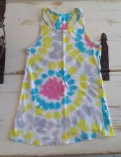 Flowers by Zoe Tie Multi Colored Dye Tank Top Sz. M