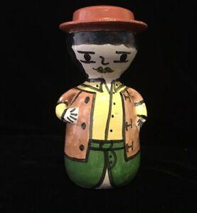 "Vintage Terra Cotta Man Or Boy Figure Sculpture Spain? Italy? Nice! 5.5"""