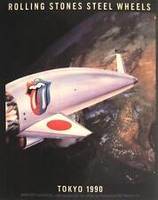 """ROLLING STONES AUFKLEBER / STICKER # 18 """"STEEL WHEELS TOKYO 1990"""" PVC WETTERFEST"""