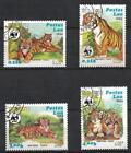 Animaux Tigres Laos (81) série complète 4 timbres oblitérés