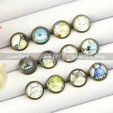 12pairs10mm Fashion Earrings Stud Earrings Glass cabochon Earrings Cute mole