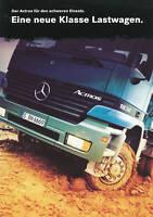 0644MB Mercedes Actros Prospekt 1997 8/97 LKW brochure prospectus broschyr truck