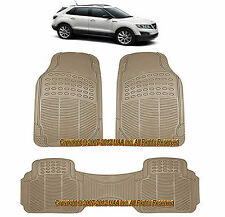 3PCALL WEATHER BEIGE RUBBER FLOOR MATS SET for  SAAB 9-3 9-7X