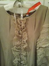 EWA I WALLA ~Quirky Designer Lagenlook Cotton Ruffle Art-To-Wear Dress/Coat~SZ S