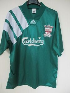 Maillot LIVERPOOL ADIDAS vintage shirt 1992 centenary away collection Carlberg